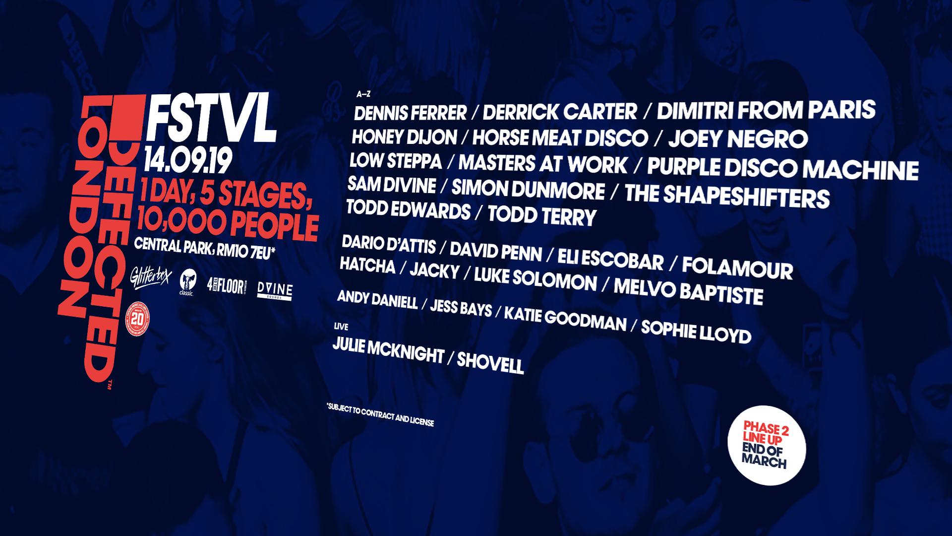 Defected London FSTVL line-up